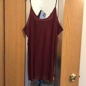 Maroon lingerie